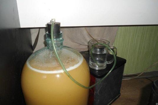 Отвод газа в медовухе