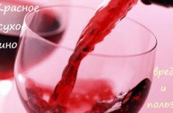 Полезно ли пить красное сухое вино