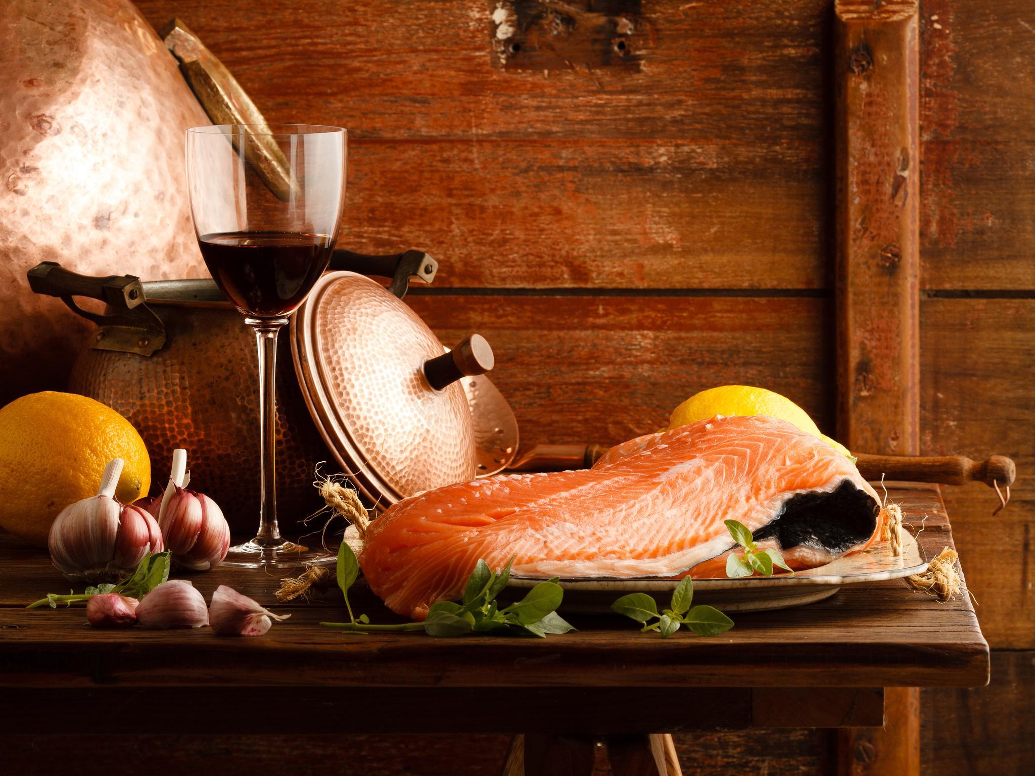 рыба в красном вине
