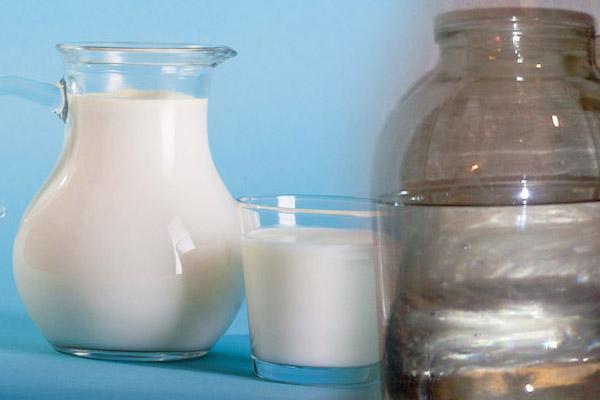 Молоко для очищения самогона