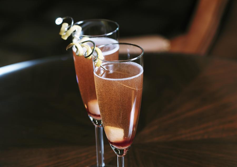 Шампанское с коньяком