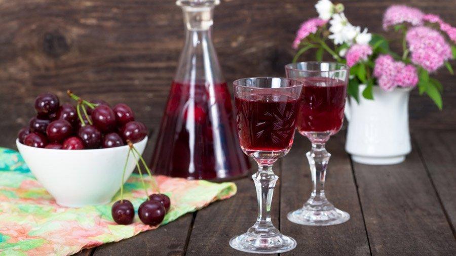 Ингредиенты для настойки пьяная вишня