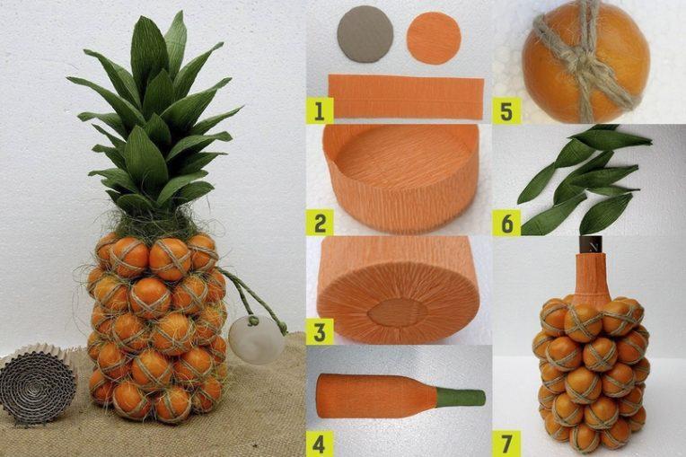 ананас из мандарин и шампанского