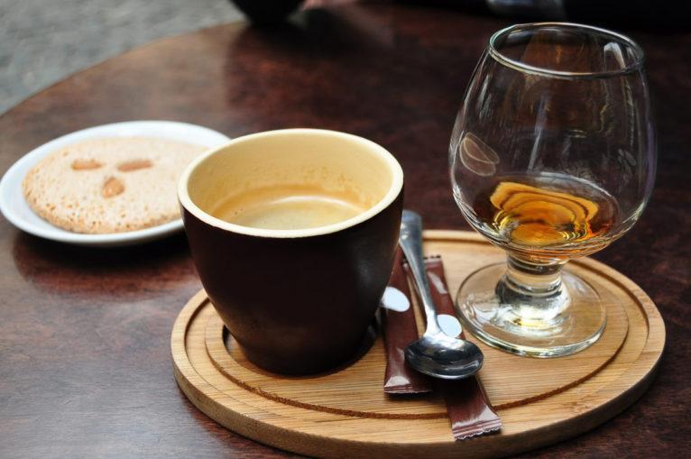 кофе с коньяком